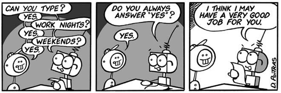 Do you always answer yes?