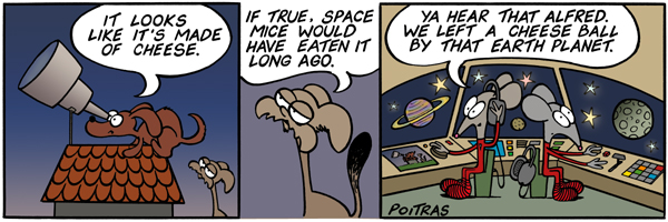 If the moon were made of cheese, space mice would have eaten it long ago.